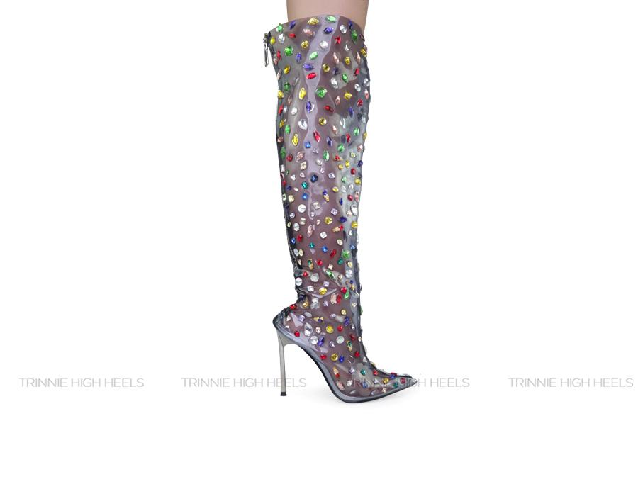 Giày cao gót Boots PX-BDD11TRS
